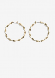 Nalì orecchini cerchio twist amor0512 oro - dettaglio 1