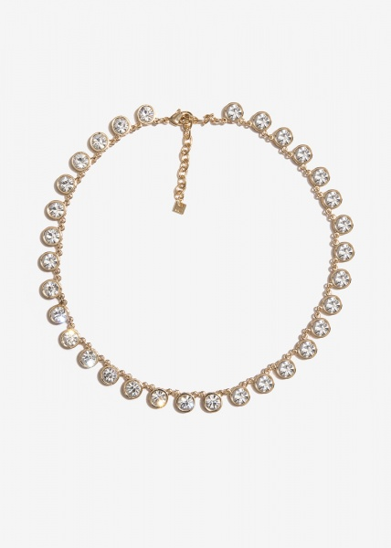 Nalì collana con cristalli tondi emcl0227 bianco - dettaglio 1