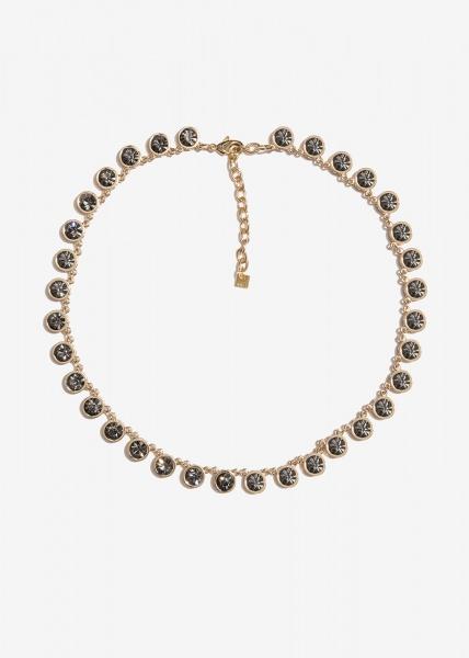 Nalì collana con cristalli tondi emcl0228 black diamond - dettaglio 1