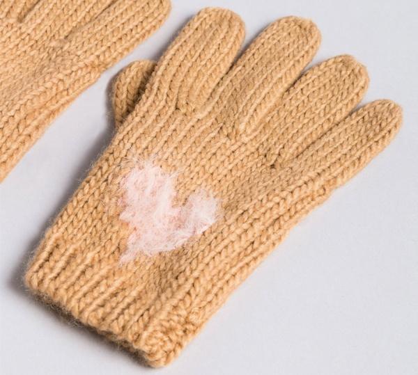 Twinset guanti in maglia con cuore aa8p5c bicolor light pink e camel acrilico - dettaglio 1