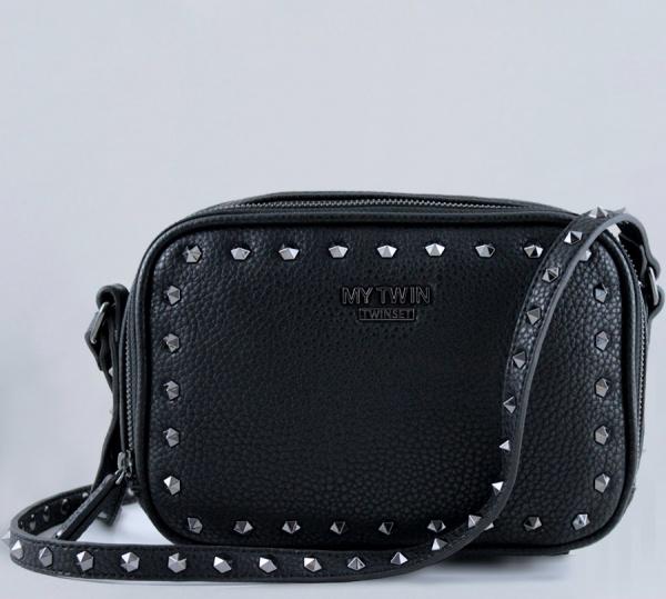 My Twin Borsa a tracolla con borchie Nero VA8PAE - dettaglio 1