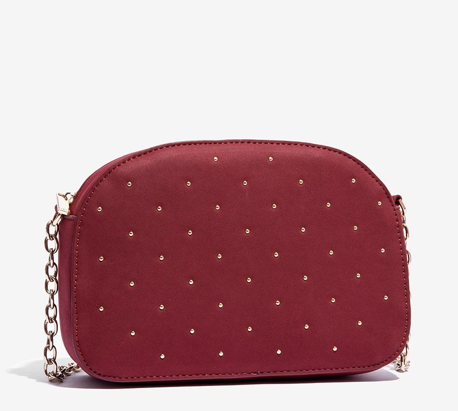 Nalì borsa a tracolla con microborchie libs0084 burgundy - dettaglio 1