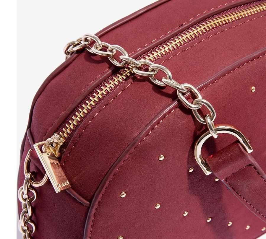 Nalì borsa a tracolla con microborchie libs0084 burgundy - dettaglio 3