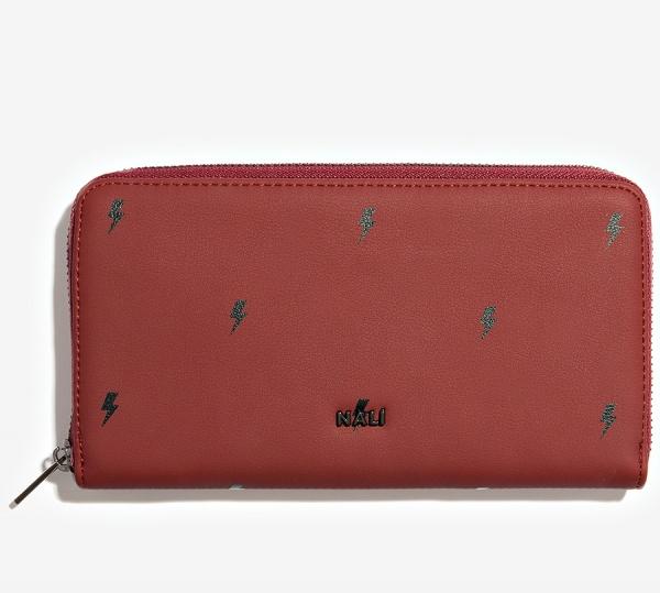 Nalì portafoglio con stampa saette ripo0087 burgundy - dettaglio 1