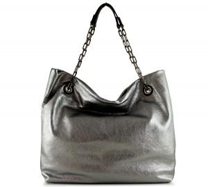Shopping bag alice 6456 gianni chiarini 6456 lmw-se acciaio e nero - dettaglio 1