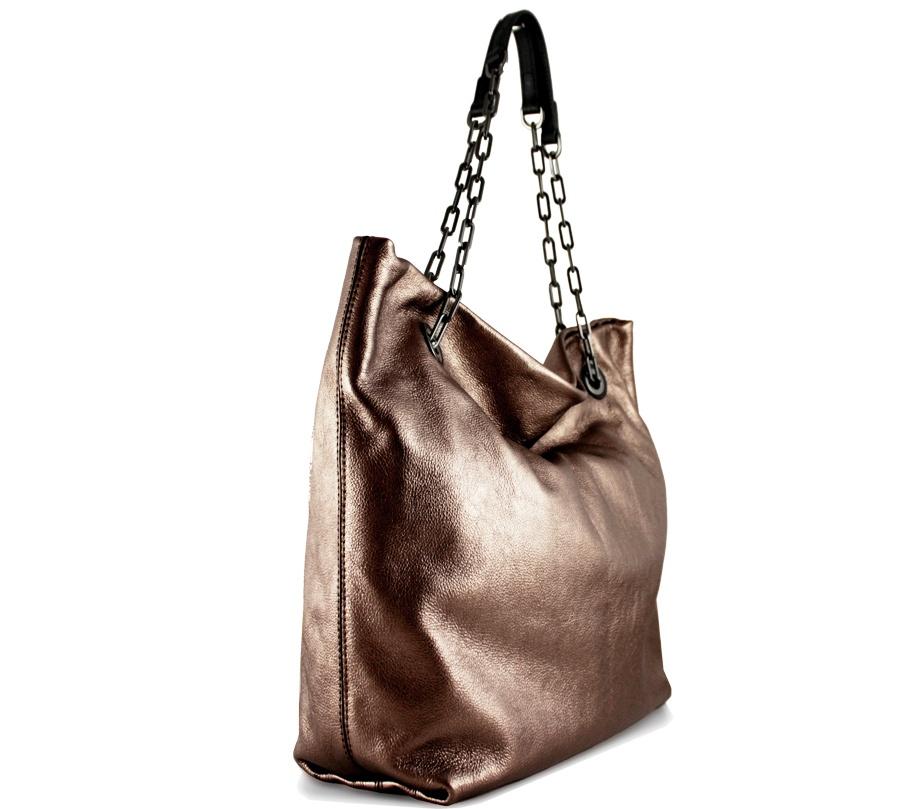 Shopping bag alice 6456 gianni chiarini 6456 lmw-se rosè e nero - dettaglio 2