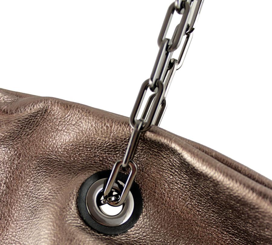 Shopping bag alice 6456 gianni chiarini 6456 lmw-se rosè e nero - dettaglio 4