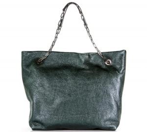 Gianni Chiarini Shopping bag Alice 6456 Verde Inglese e Nero - dettaglio 1