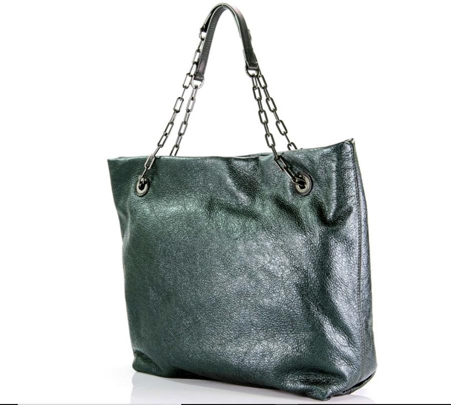 Gianni Chiarini Shopping bag Alice 6456 Verde Inglese e Nero - dettaglio 2