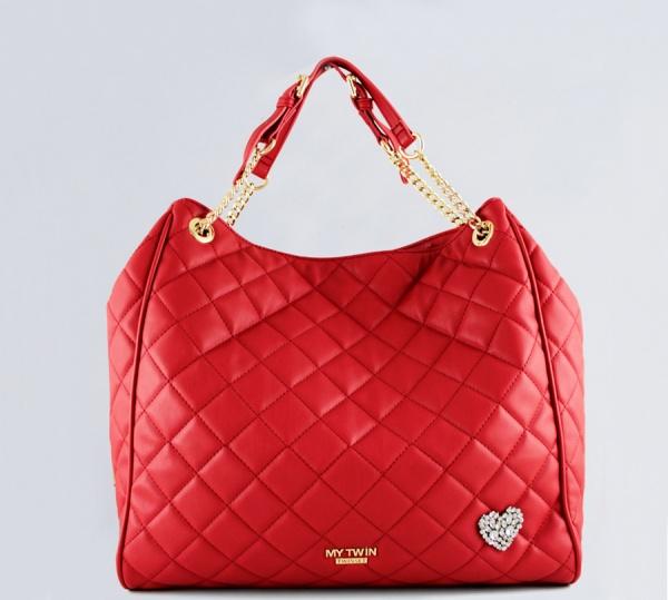 My Twin Shopping bag Hobo in Similpelle Trapuntata Papavero VA8PCC - dettaglio 1