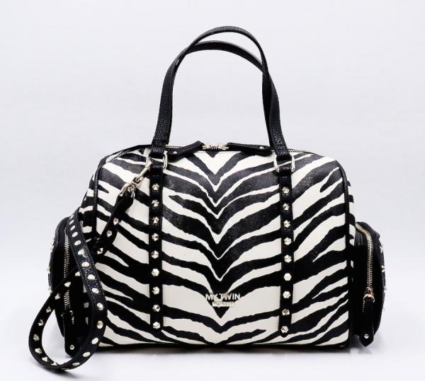 My Twin Borsa a mano Bauletto Stampa Zebra Bianco e Nero VA8PAF - dettaglio 1