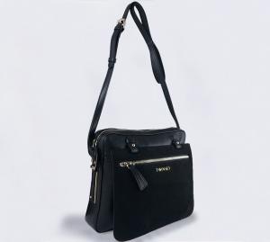 Twinset borsa a tracolla oa8tfp nero pelle e camoscio - dettaglio 1