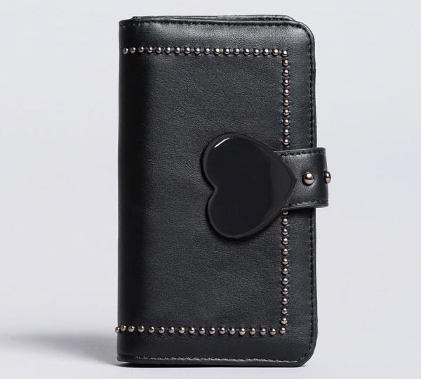 My twin portafoglio con patta in similpelle ra8tfl bicolor nero e nero - dettaglio 1