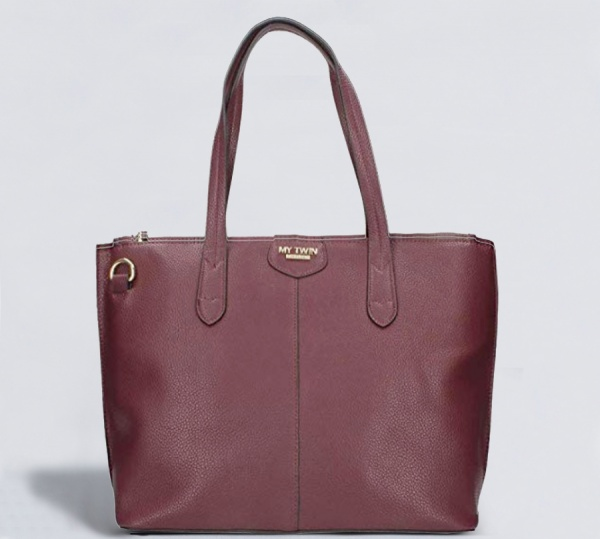 My Twin Shopping bag Orizzontale Bordeaux RA8TEP - dettaglio 1