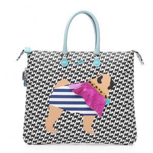 Gabs shopping bag week cani trasformabile pvc stampa pug - dettaglio 1