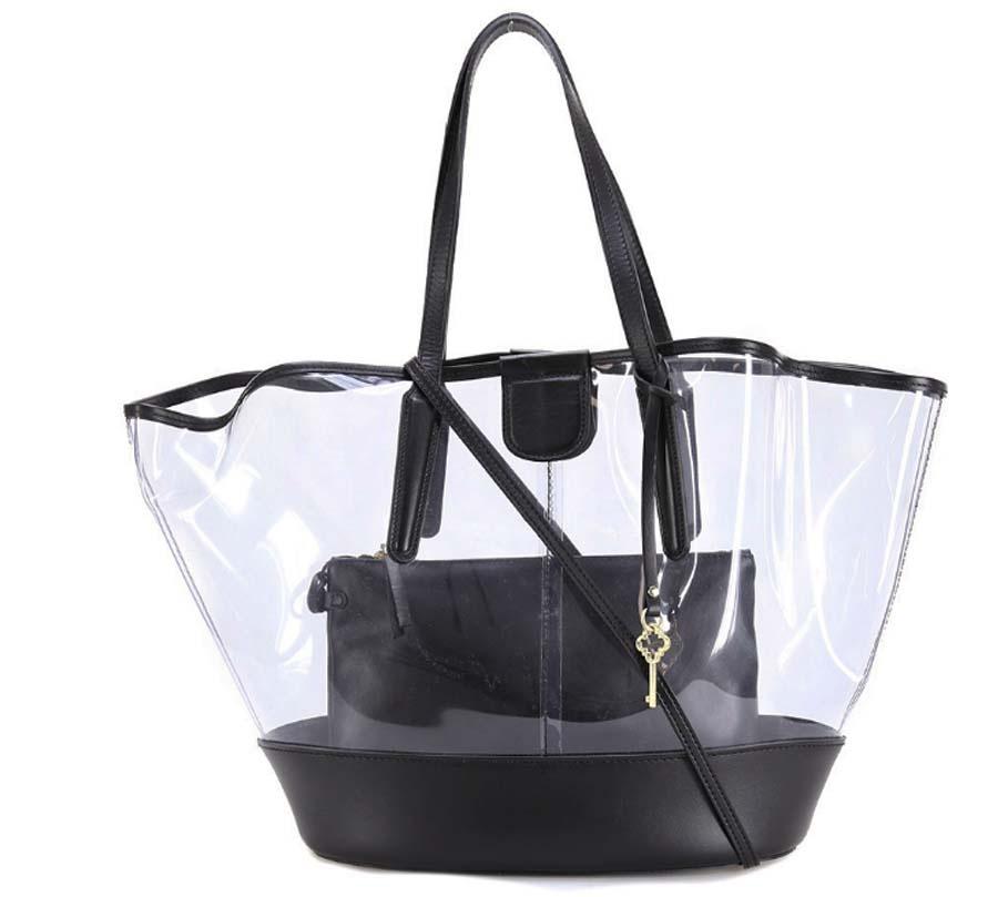Shopping bag 6671 gianni chiarini nero - dettaglio 1