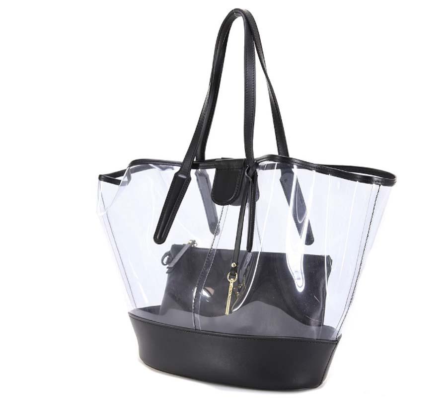 Shopping bag 6671 gianni chiarini nero - dettaglio 2