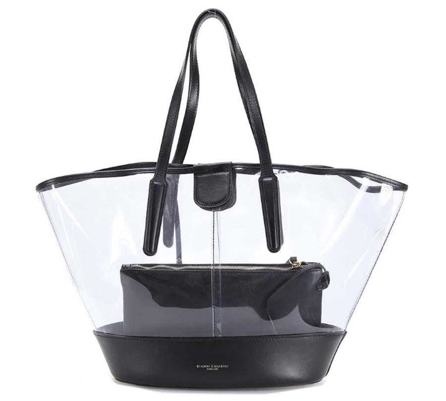 Shopping bag 6671 gianni chiarini nero - dettaglio 3