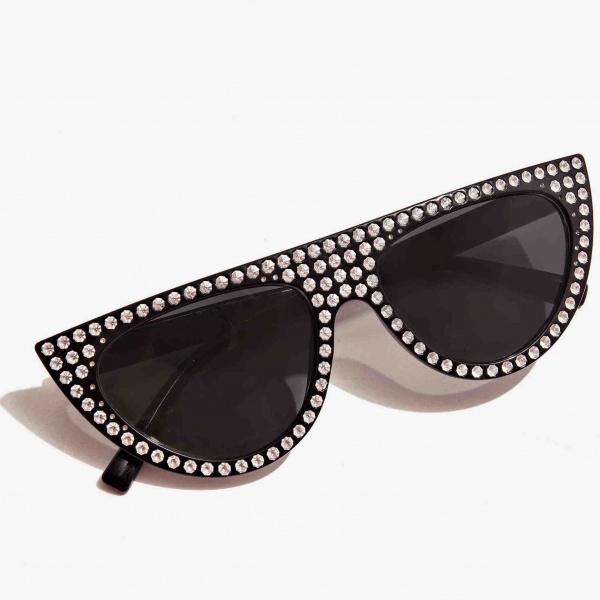 Occhiali a mascherina con cristalli nali nero suoc0040 - dettaglio 1