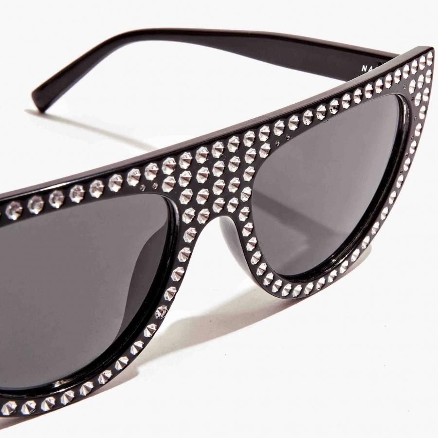 Occhiali a mascherina con cristalli nali nero suoc0040 - dettaglio 3