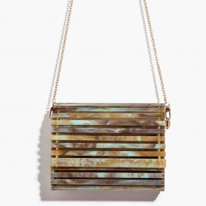 Nali borsa a tracolla in resina mabs0033 verde - dettaglio 1