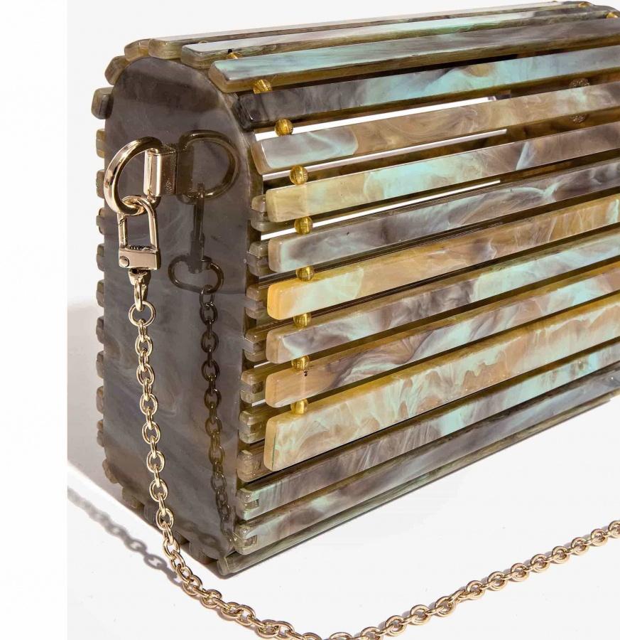 Nali borsa a tracolla in resina mabs0033 verde - dettaglio 2