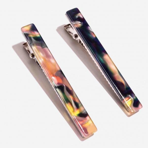 Nali fermagli per capelli in resina luac0042 multicolor - dettaglio 1