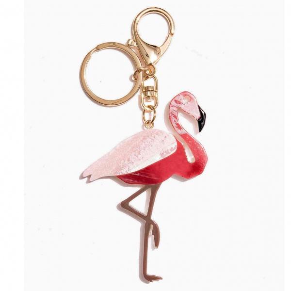 Nali portachiavi con pendente flamingo mipt0032 rosa - dettaglio 1