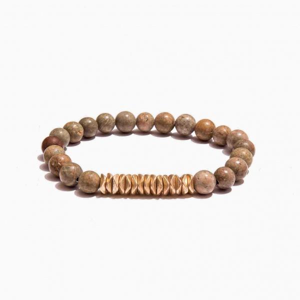 Nalì bracciale elastico beads grandi abbr0065 nude - dettaglio 1