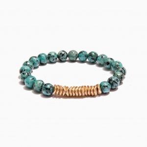 Nalì bracciale elastico beads grandi abbr0067 verde - dettaglio 1