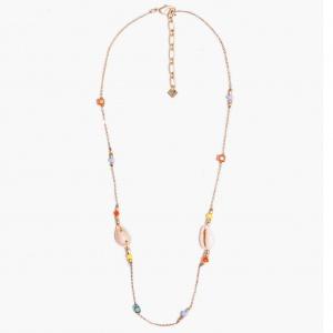 Nalì collana girocollo con conchiglie e beads abcl0051 oro - dettaglio 1