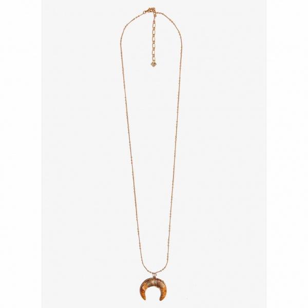 Nalì collana con pendente mezzaluna abcl0064 beige - dettaglio 1
