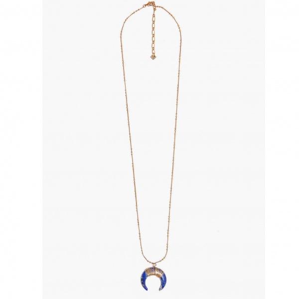 Nalì collana con pendente mezzaluna abcl0065 blu - dettaglio 1