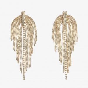 Nalì orecchini pendenti con microcristalli zhor0470 oro - dettaglio 1