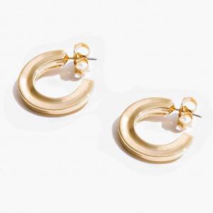 Nalì orecchini cerchio spesso mfor0046 oro - dettaglio 1