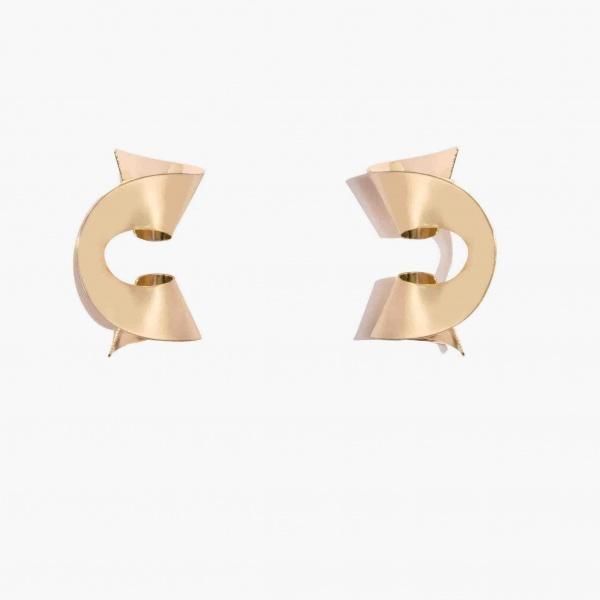 Nalì orecchini a spirale luor0054 oro - dettaglio 1