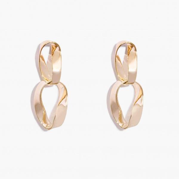 Nalì orecchini con ciondolo ovale pendente mfor0031 oro - dettaglio 1