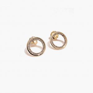 Nalì orecchini cerchio con cristalli mfor0038 oro - dettaglio 1