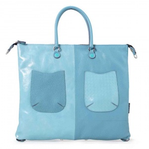 Gabs borsa a mano g3 momu trasformabile pelle multistampa monocolore cielo - dettaglio 1
