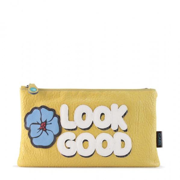 Gabs pochette beyonce pop look good similpelle martellata giallo - dettaglio 1