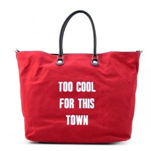 Gabs shopping bag gshop cool cotone rosso - dettaglio 1