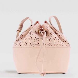 Twinset borsa a secchiello con dettagli a fiori 191ta7161 perla rosa similpelle - dettaglio 1