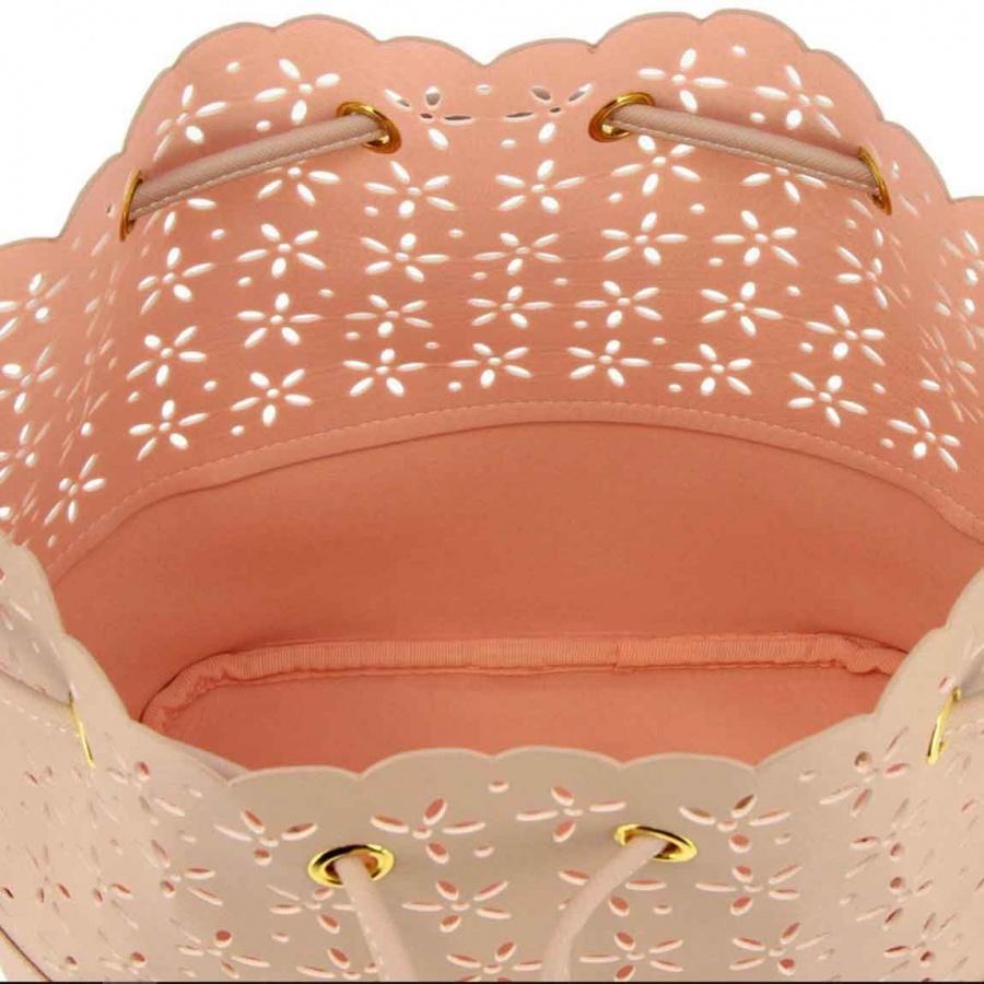 Twinset borsa a secchiello con dettagli a fiori 191ta7161 perla rosa similpelle - dettaglio 4