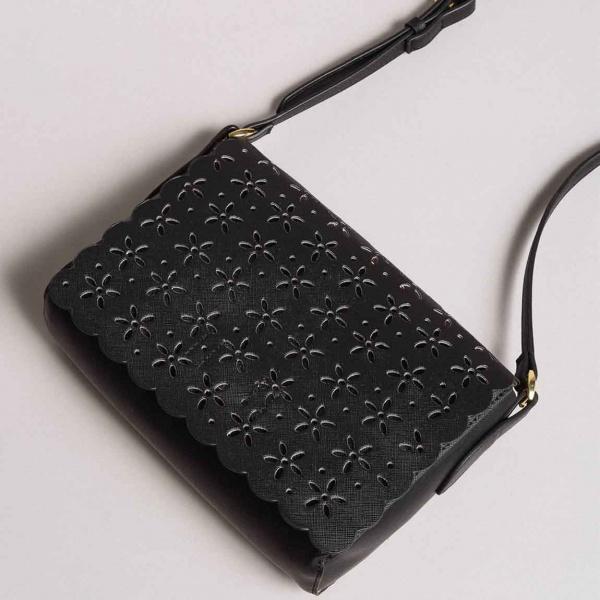 Twinset borsa a tracolla con dettagli a fiori 191ta7162 nero similpelle - dettaglio 1