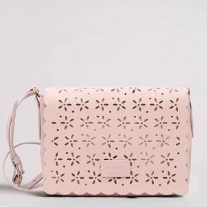 Twinset borsa a tracolla con dettagli a fiori 191ta7162 perla rosa similpelle - dettaglio 1