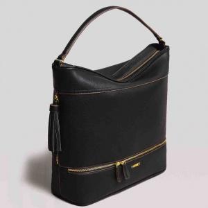 Twinset borsa a spalla hobo con nappa 191ta7600 nero similpelle - dettaglio 3
