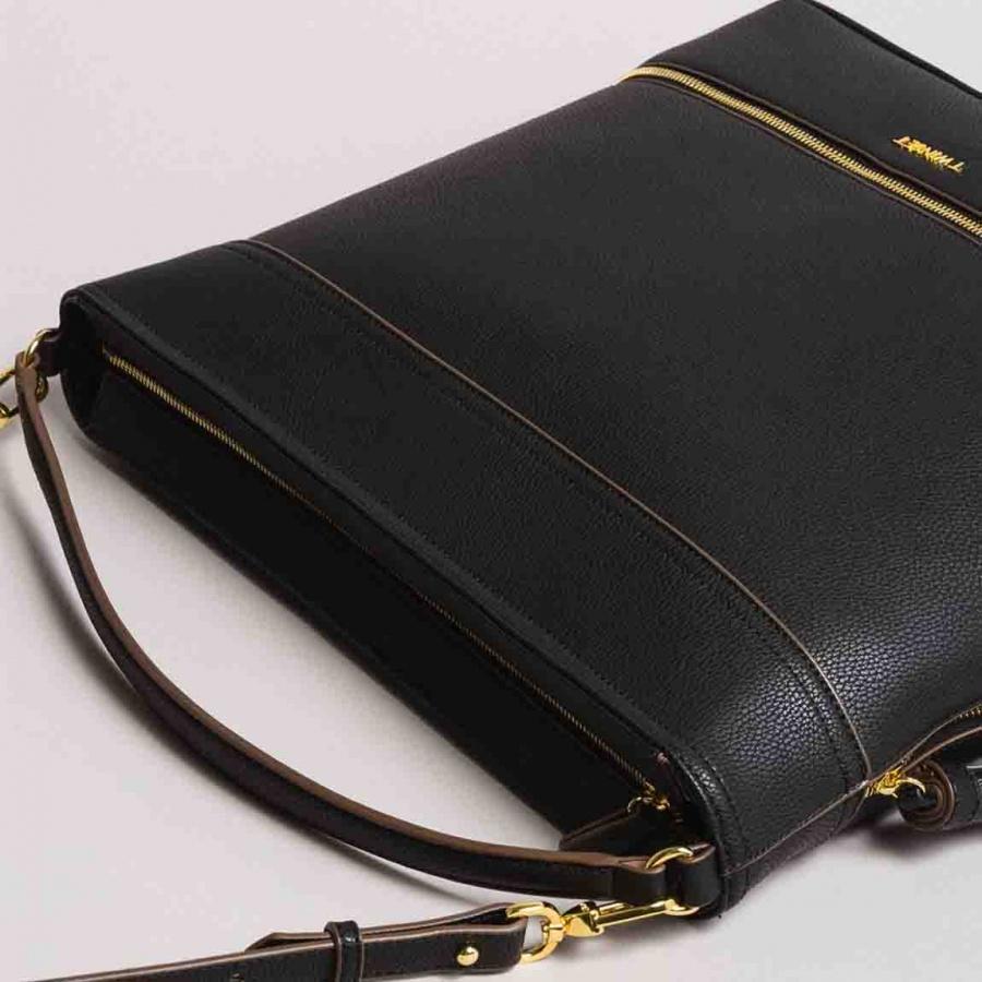 Twinset borsa a spalla hobo con nappa 191ta7600 nero similpelle - dettaglio 2