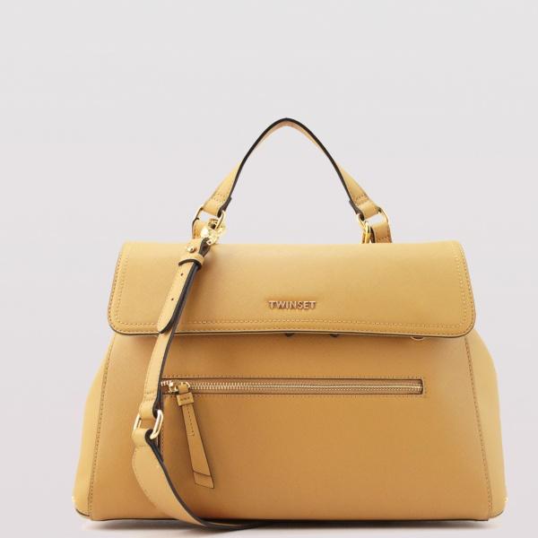 Twinset borsa a mano cécile 191to8105 honey gold similpelle - dettaglio 1