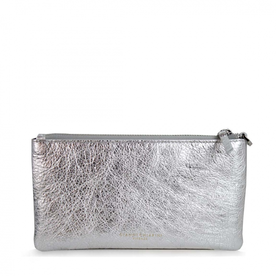 Gianni Chiarini Shopping bag Superlight Argento + OMAGGIO Portafoglio - 6986/P-8150