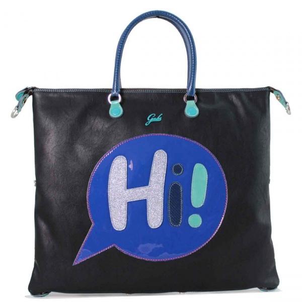 Gabs borsa a mano g3 vignetta hi trasformabile pelle nero - dettaglio 1